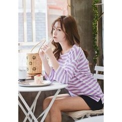 GOROKE - 3/4-Sleeve Stripe T-Shirt