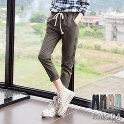 OrangeBear - Stripe Elastic-Waist Pants