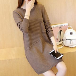 Ageha - Long-Sleeve Knit Dress