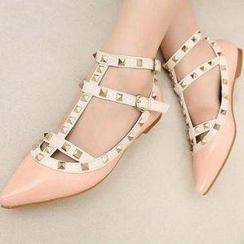 Mancienne - Pointy Studded Flats