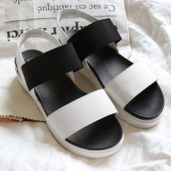 NANING9 - Color-Block Platform Sandals