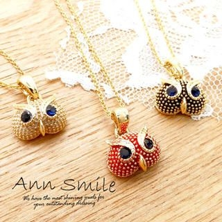 AnnSmile - 'Owl' Short Necklace