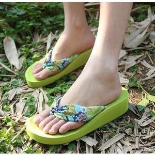 Tovoer - Patterned Wedge Flip-Flops