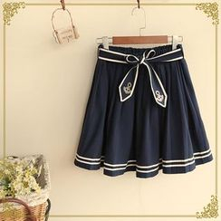 Fairyland - Anchor Embroidered A-Line Skirt