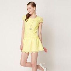 O.SA - Cap-Sleeve Lace Dress