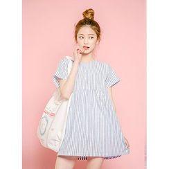 icecream12 - Short-Sleeve Stripe Tunic