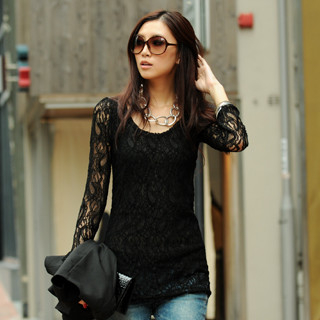 59 Seconds - Long-Sleeve Lace Top