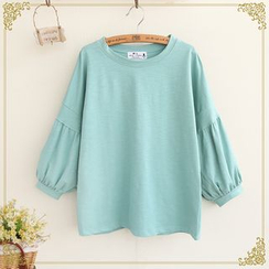 Fairyland - 3/4-Sleeve Plain T-Shirt