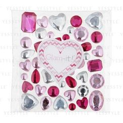 Glam-it! - Bling Crystals Mixed Hearts Pink