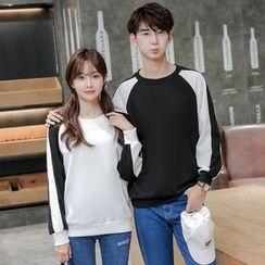 Je T'aime - Couple Matching Colour Block Sweatshirt