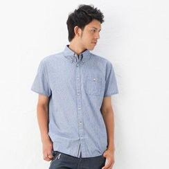 Buden Akindo Short-Sleeve Check Shirt
