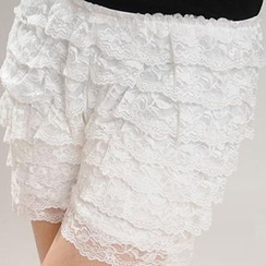 camikiss - Tiered Lace Under Shorts