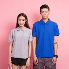 Dubel - Short-Sleeve Couple Polo Shirt