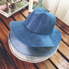 FROME - Denim Fedora Hat