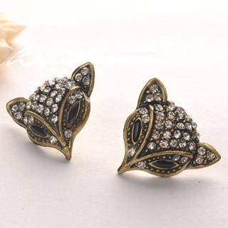 Fit-to-Kill - Vintage Fox Earrings - Copper