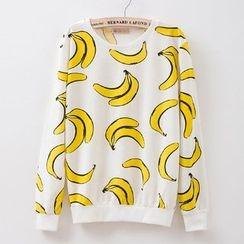 Maymaylu Dreams - 好心情香蕉长袖T恤上衣