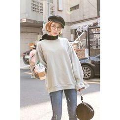 PPGIRL - Round-Neck Bell-Sleeve Pullover