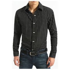 JIBOVILLE - Diamond Pattern Shirt