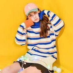 Suzette - Striped Long Sweater