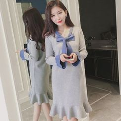 Smitti - Bow Frilled Knit Dress