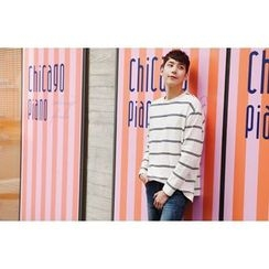 SCOU - Crew-Neck Striped T-Shirt