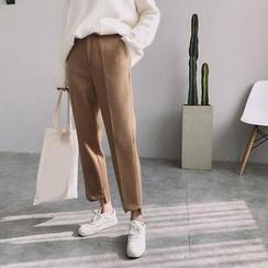 Bloombloom - Plain Cropped Pants
