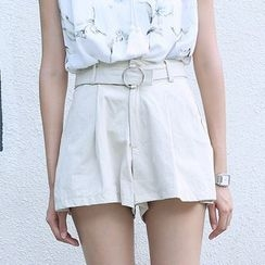 Sens Collection - Wide Leg Shorts With Belt