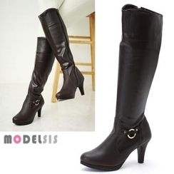 MODELSIS - Genuine Leather Long Boots (2 Designs)