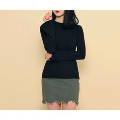 HOTPING - Round-Neck Bell-Sleeve Top