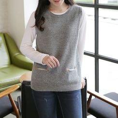 CLICK - Wool Blend Sleeveless Knit Top