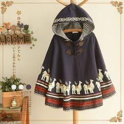 PANDAGO - Camel Hooded Poncho