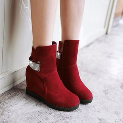 Pretty in Boots - Embellished Hidden Wedge Short Boots