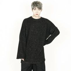 Rememberclick - Round-Neck Long Sweater