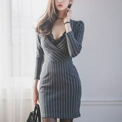 Aurora - Striped Sheath Dress