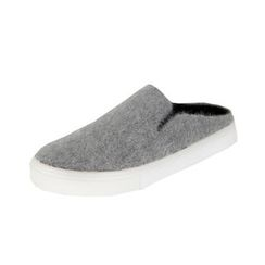 DABAGIRL - Backless Colored Furry Slip-Ons