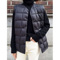 FROMBEGINNING - Couple Button Padded Vest