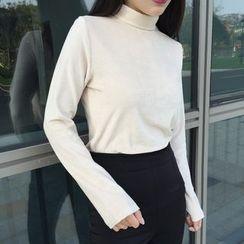 Cloud Nine - Long-Sleeve High Neck T-Shirt