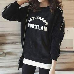 Little V - Letter Fleece-Lined Sweatshirt