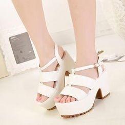 Mancienne - Platform Chunky-Heel Sandals