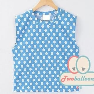 JVL - Polka-Dot Sleeveless Top
