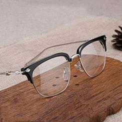 JUNHOVER - Metal Half Frame Glasses Frame