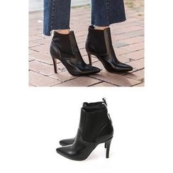 migunstyle - Banded High-Heel Ankle Boots