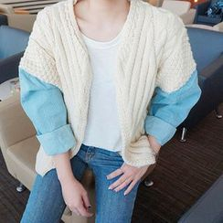 Everose - Panel-Sleeve Knit Cardigan