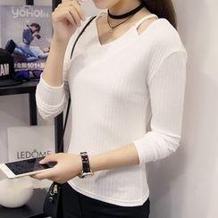 Reis - 鏤空羅紋針織上衣