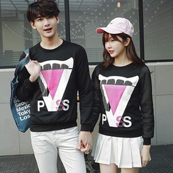 Azure - Couple Matching Print Sweatshirt