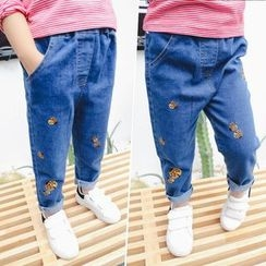 Merry Go Round - Kids Embroidered Jeans