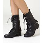 yeswalker - Fleece Line Lace-Up Boots