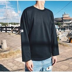 Bestrooy - Long-Sleeve Plain T-Shirt