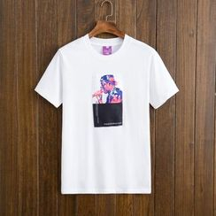 Mys Homme - Short-Sleeve Printed T-Shirt