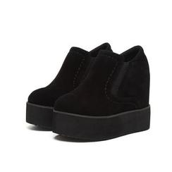 Anran - Hidden Wedge Platform Slip-Ons